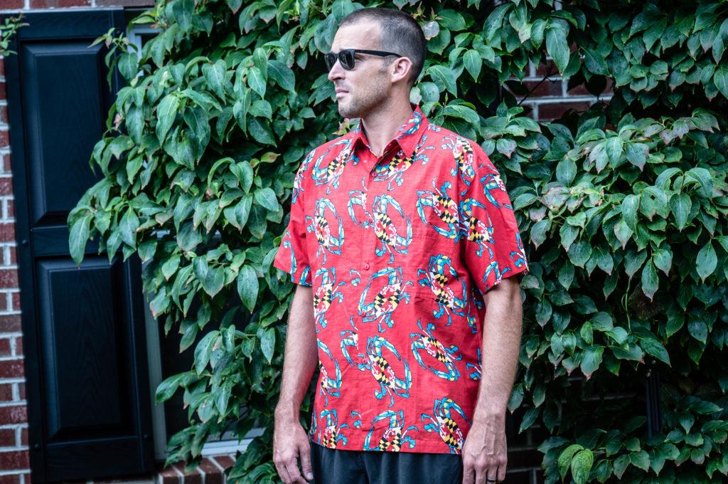 Maryland Crab Hawaiian Shirt